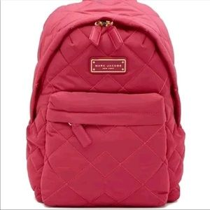 NWT! Marc Jacobs Quilted Nylon Backpack, Begonia